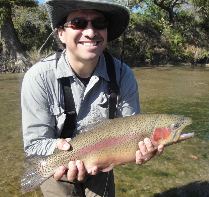Guadalupe river fly fishing guide guides guided trout trips for Guadalupe river fly fishing