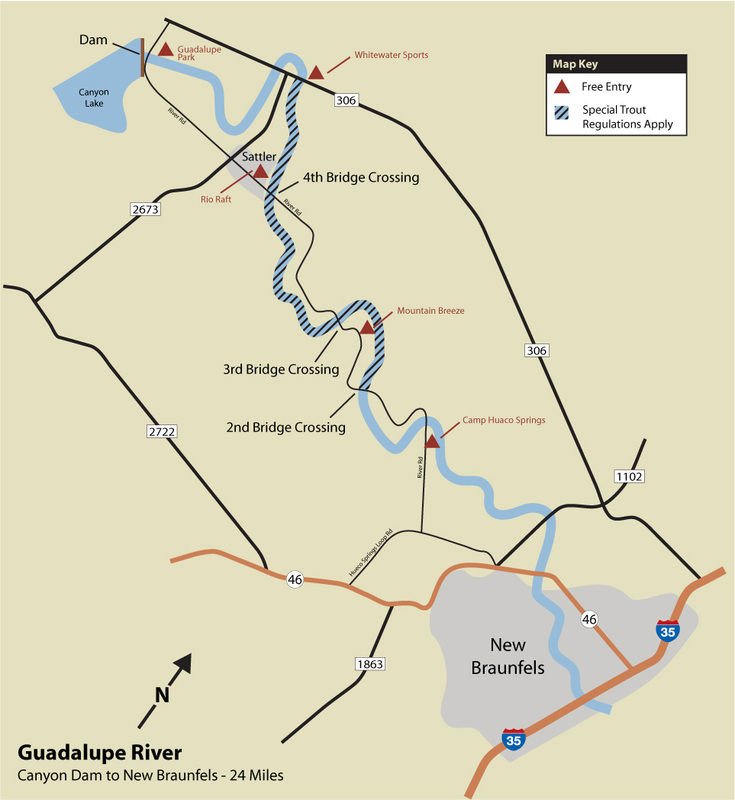 Tpwd guadalupe fishing map for Tpwd fishing reports